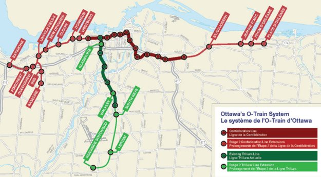 And Here Is The Long Term Vision For The Light Rapid Transit System Click Image For Full Schedule And Large Map Via City Of Ottawa