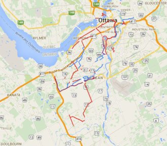 Winter-Maintained Ottawa Cycling Routes. Click image for link to interactive map by Heather Shearer.